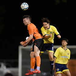BRISBANE, AUSTRALIA - FEBRUARY 22:  during the NPL Queensland Senior Mens Round 3 match between Eastern Suburbs FC and Gold Coast United at Heath Park on February 23, 2020 in Brisbane, Australia. (Photo by Patrick Kearney)