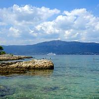 Beach bay,<br />Marjan Park, walk and swiming,<br />Split, Croatia. 2018