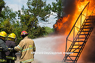 63818-02508 Firefighters at oilfield tank training, Marion Co., IL