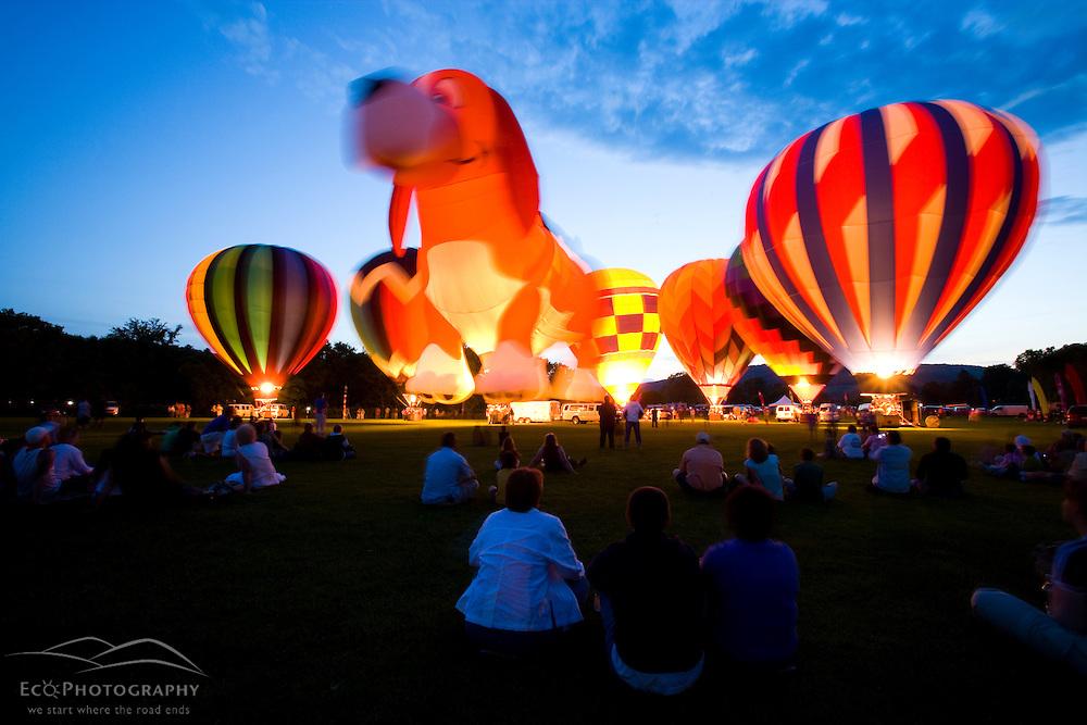 Balloons at the Quechee Balloon Festival Vermont USA