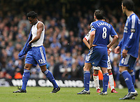 Photo: Rich Eaton.<br /> <br /> Chelsea v Arsenal. Carling Cup Final. 25/02/2007. Mikel John Obi of Chelsea leaves the pitch after being given a red card
