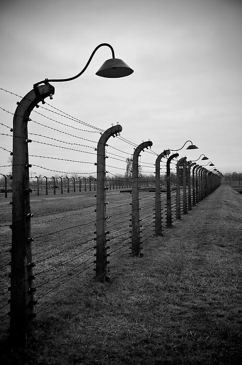 The boundary fence at Birkenau.