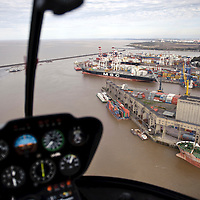 USE ARROWS ( ← or → ) on your keyboard to navigate this slide-show<br /> <br /> Buenos Aires, Argentina 22 August 2009<br /> Aerial view of the port of Buenos Aires, from an helicopter of Helijets.<br /> Photo: Ezequiel Scagnetti