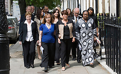 © licensed to London News Pictures. 06/05/2011. Bereaved families and survivors of the 7/7 bombings arrive at a press conference in London today (06/05/2011) following the July 7 inquest verdicts. See special instructions for rates. Photo credit should read Ben Cawthra/LNP