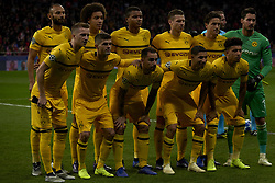 November 6, 2018 - Madrid, Spain - Line up Borussia during the Group A match of the UEFA Champions League between AtleticoLucien Favre of Borussia Dortmund Madrid and Borussia Dortmund at Wanda Metropolitano Stadium, Madrid on November 07 of 2018. (Credit Image: © Jose Breton/NurPhoto via ZUMA Press)