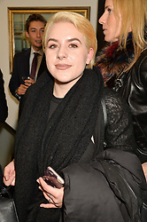 BELLA CRUISE daughter of Tom Cruise & Nicole Kidman at a private view of Tyler Shields work entitled Decadence held at the Maddox Gallery, 9 Maddox Street, London on 3rd February 2016.