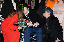 EXCLUSIVE: **WEB EMBARGO UNTIL 7pm GMT 26th Nov** Pogues singer Shane McGowan gets marries to Victoria Mary Clarke at Copenhagen City Hall. Johnny Depp was one of the guest at the wedding in Denmark. 26 Nov 2018 Pictured: Pogues singer Shane McGowan gets marries to Victoria Mary Clarke at Johnny Depp. Photo credit: Aller/MEGA TheMegaAgency.com +1 888 505 6342