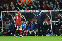 Bristol Academy Womens manager, Dave Edmondson looks on - Photo mandatory by-line: Dougie Allward/JMP - Mobile: 07966 386802 - 13/11/2014 - SPORT - Football - Bristol - Ashton Gate - Bristol Academy Womens FC v FC Barcelona - Women's Champions League