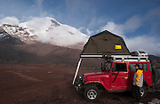 Chimborazo Mountain (6310 Meters) The highest Mountain in Ecuador. Inactive volcano last eruption 10,000 years ago.<br /> Chimborazo Reserve<br /> Southern Andes<br /> ECUADOR.  South America