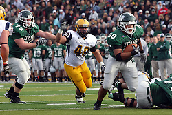 12 November 2011:  Sean Conley moves through the middle of the line during an NCAA division 3 football game between the Augustana Vikings and the Illinois Wesleyan Titans in Tucci Stadium on Wilder Field, Bloomington IL
