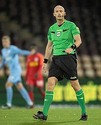 Dommer Benjamin Willaume-Jantzen under kampen i 3F Superligaen mellem FC Nordsjælland og Randers FC den 19. oktober 2020 i Right to Dream Park, Farum (Foto: Claus Birch).