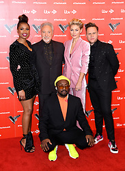 Jennifer Hudson, Tom Jones, Emma Willis, Olly Murs and will.i.am attending The Voice UK 2019 Launch Photocall held at W Hotel, Leicester Square, London. Picture credit should read: Doug Peters/EMPICS