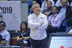 November 27, 2017 - Cubao, Quezon City, Philippines - Gilas Pilipinas coach Chot Reyes.Gilas Pilipinas defended their home against Chinese Taipei. Game ended at 90 - 83. (Credit Image: © Noel Jose Tonido/Pacific Press via ZUMA Wire)