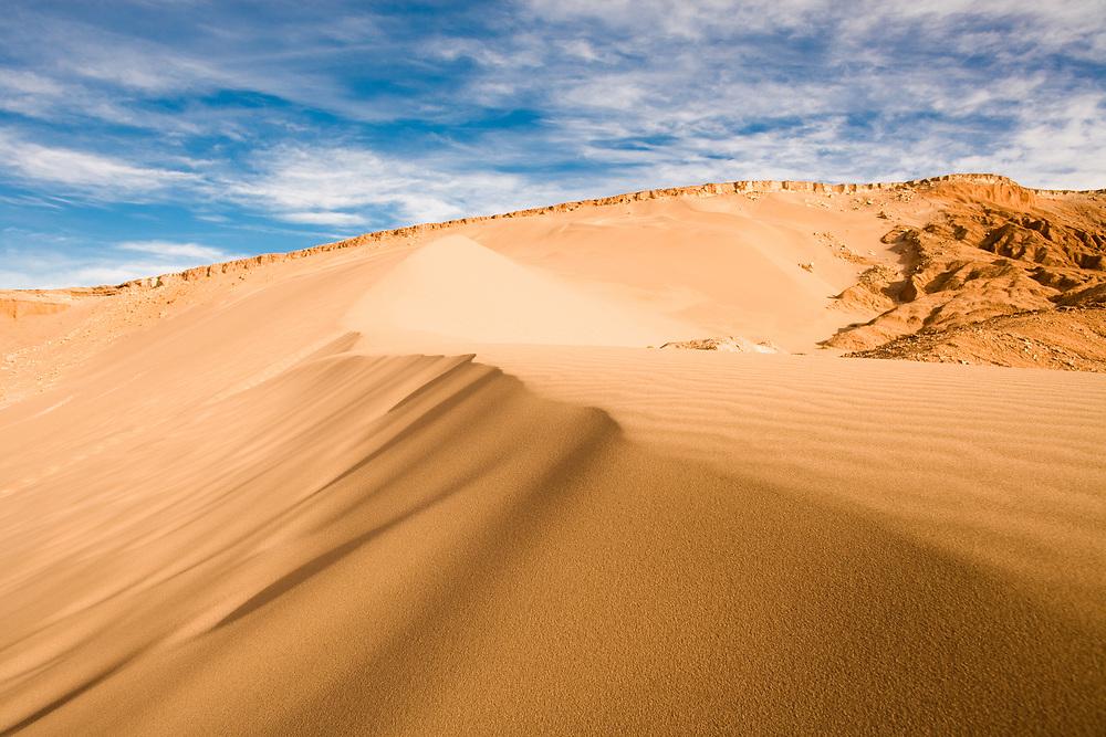 Sand dune at Valle de la Muerte (Spanish for Death Valley), Los Flamencos National Reserve, San Pedro de Atacama, Atacama desert, Antofagasta Region, Chile, South America