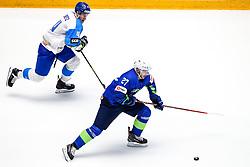 Darren Deitz of Kazakhstan and Bostjan Golicic of Slovenia during ice hockey match between Slovenia and Kazakhstan at IIHF World Championship DIV. I Group A Kazakhstan 2019, on April 29, 2019 in Barys Arena, Nur-Sultan, Kazakhstan. Photo by Matic Klansek Velej / Sportida