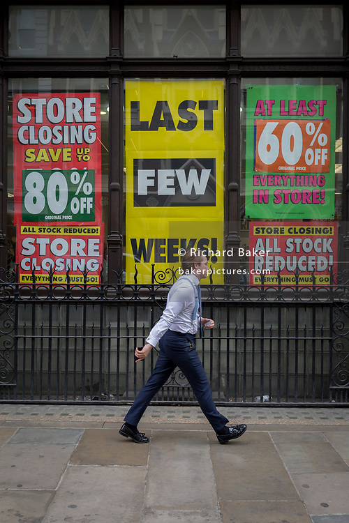 A branch of the soon-to-close Maplin chain in the City of London, the capital's financial district, on 4th June 2018, in London, England.