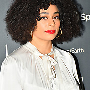 Celeste Arrivers at AIM Independent Music Awards at the Roundhouse on 3 September 2019, Camden Town, London, UK.