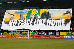 Banner fans of Ado den Haag, No place like home during the Dutch Eredivisie match between ADO Den Haag and PSV Eindhoven at Cars Jeans stadium on April 29, 2018 in The Hague, The Netherlands