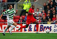 Djibril Cisse<br />Liverpool 2005/06<br />Thomas Holmes TNS<br />TNS V Liverpool 19/07/05<br />UEFA Champions League 1st Qualifying Round 2nd Leg<br />Photo Robin Parker Fotosports International