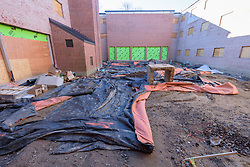 Major Renovation Litchfield Hall WCSU Danbury CT<br /> Connecticut State Project No: CF-RD-275<br /> Architect: OakPark Architects LLC  Contractor: Nosal Builders<br /> James R Anderson Photography New Haven CT photog.com<br /> Date of Photograph: 27 December 2016<br /> Camera View: 08 - Courtyard
