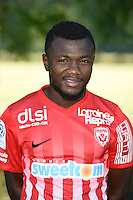 Serge N'Guessan of Nancy poses for a portrait during the Nancy squad photo call for the 2016-2017 Ligue 1 season on August 25, 2016 in Nancy, France<br /> Photo : Fred Marvaux / Icon Sport