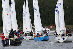 The Silvers Marine Scottish Series 2014, organised by the  Clyde Cruising Club,  celebrates it's 40th anniversary.<br /> Day 1, Sonata Start, GBR8314N , Saraband , Mark Taylor , Prestwick SC<br /> GBR8304N, Jazz, Neil Manderson, Helensburgh SC<br /> Racing on Loch Fyne from 23rd-26th May 2014<br /> <br /> Credit : Marc Turner / PFM