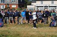 Sandy Scott (GB&I) on the 18th during Day 2 Foursomes of the Walker Cup, Royal Liverpool Golf CLub, Hoylake, Cheshire, England. 08/09/2019.<br /> Picture Thos Caffrey / Golffile.ie<br /> <br /> All photo usage must carry mandatory copyright credit (© Golffile   Thos Caffrey)