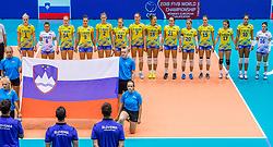 24-08-2017 NED: World Qualifications Belgium - Slovenia, Rotterdam<br /> Team SloveniÎ<br /> Photo by Ronald Hoogendoorn / Sportida
