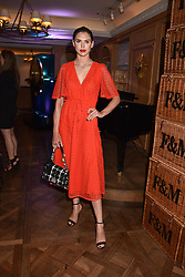Sabrina Percy at the Fortnum & Mason Food and Drink Awards, Fortnum & Mason Food and Drink Awards, London, England. 10 May 2018.