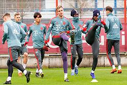 14.03.2019, Säbener Strasse, Muenchen, GER, 1. FBL, FC Bayern Muenchen vs 1. FSV Mainz 05, Training, im Bild v.l. Lars Lukas Mai (FC Bayern), Joshua Kimmich (FC Bayern), Wooyeong Jeong (FC Bayern), Christian Früchtl (FC Bayern), Alphonso Davies (FC Bayern), Renato Sanches (FC Bayern), Leon Goretzka (FC Bayern) // during a trainings session before the German Bundesliga 26th round match between FC Bayern Muenchen and 1. FSV Mainz 05 at the Säbener Strasse in Muenchen, Germany on 2019/03/14. EXPA Pictures © 2019, PhotoCredit: EXPA/ Lukas Huter