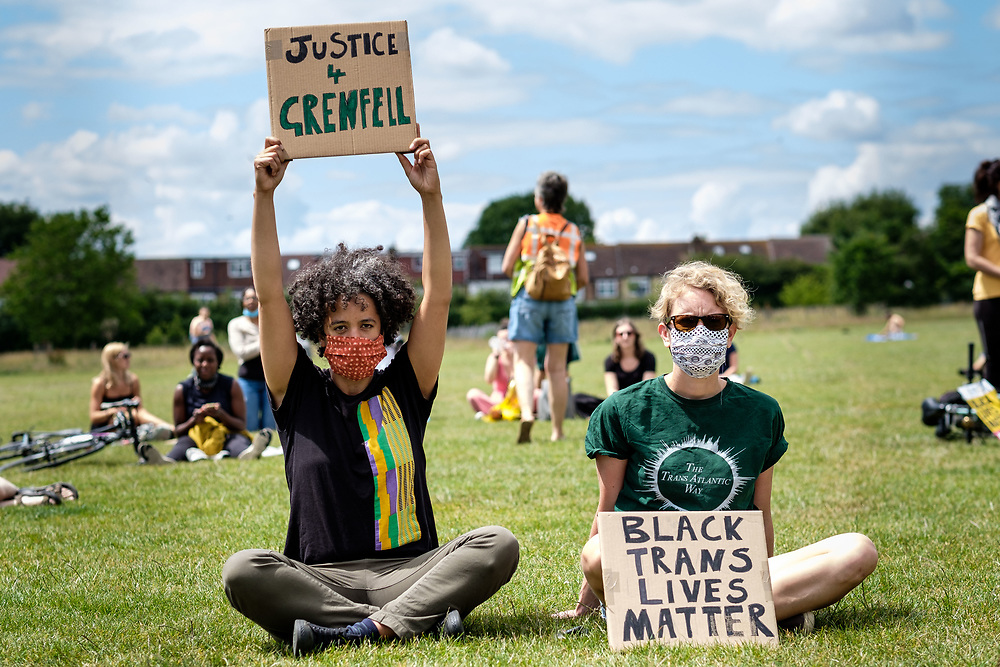 People protest in support of Black Lives Matter in Haringey. London, 14 June, 2020. (Photos/Ivan Gonzalez)