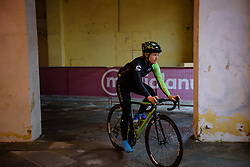 Lauren Stephens at Strade Bianche - Elite Women 2018 - a 136 km road race on March 3, 2018, starting and finishing in Siena, Italy. (Photo by Sean Robinson/Velofocus.com)
