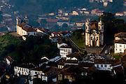 Ouro Preto_MG, Brasil...Vista panoramica de Ouro Preto, com destaque para a Igreja Sao Francisco de Assis...The panoramic view of Ouro Preto with Nossa Sao Francisco de Assis church in detail...Foto: LEO DRUMOND / NITRO.