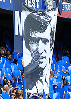Football - 2014 / 2015 Premier League - Chelsea vs. Sunderland.   <br /> <br /> The face face of Peter Bonnetti displayed on a legends flag ahead of the game at Stamford Bridge. <br /> <br /> COLORSPORT/DANIEL BEARHAM