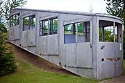 Kościerzyna, 2011-07-06. Stary wagon kolejki górskiej, Muzeum Kolejnictwa w Kościerzynie, dawny Skansen Parowozownia Kościerzyna