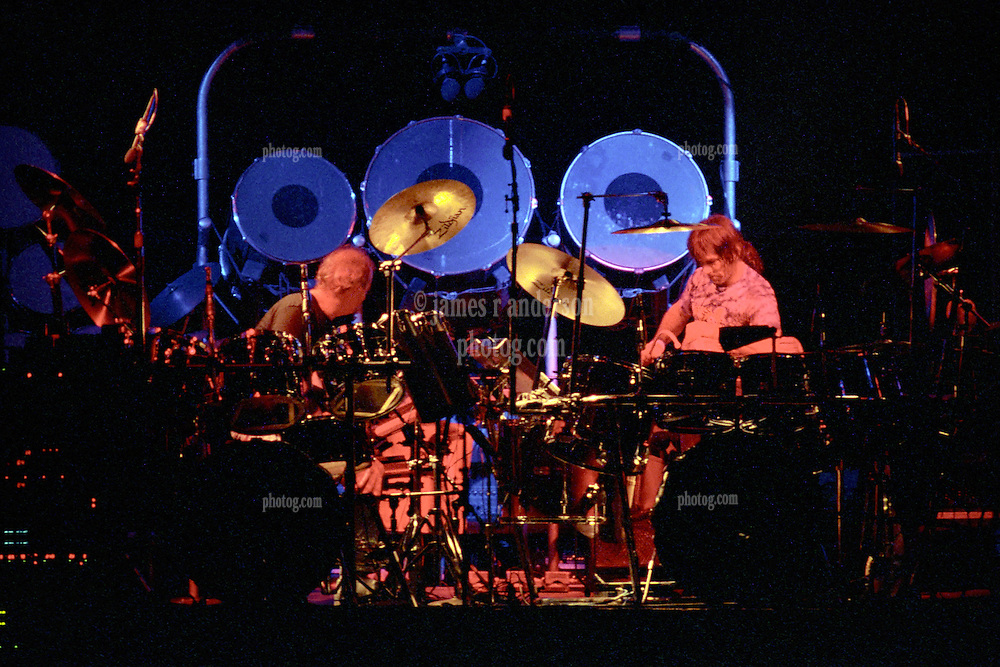 "Percussionists Bill Kreutzmann & Mickey Hart performing with The Grateful Dead Live at The Hampton Coliseum on 8 October 1989. One of the Eleven images included in the CD boxed set release, ""Formerly The Warlocks"". Can be purchased individually or as part of a special limited set of all 11 in the package printed by the photographer. Choose in Cart."