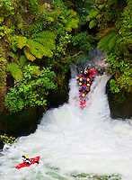 This image of a raft going off the 7 meter (21 foot) Tutea Falls on the Kaituna River, near Rotorua, on the North Island of New Zealand was a finalist in the outdoor adventure category of the 2014 Nature's Best Photography Windland Smith Rice International Awards.