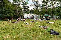 Yoga Nidra at the Also Festival 2021 at Cpmton Verney,photo by Mark Anton Smith<br /> .