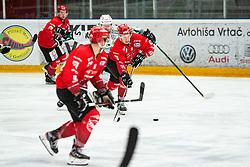 Blaz Tomazevic Alps Hockey League match between EC Bregenzerwaldl and HDD SIJ Jesenice, on November 20, 2020 in Ice Arena Podmezakla, Jesenice, Slovenia. Photo by Peter Podobnik / Sportida