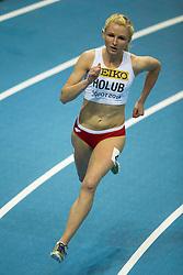 07.03.2014, Ergo Arena, Sopot, POL, IAAF, Leichtathletik Indoor WM, Sopot 2014, Tag 1, im Bild MALGORZATA HOLUB BIEG NA 400 M // MALGORZATA HOLUB BIEG NA 400 M during day one of IAAF World Indoor Championships Sopot 2014 at the Ergo Arena in Sopot, Poland on 2014/03/07. EXPA Pictures © 2014, PhotoCredit: EXPA/ Newspix/ Radoslaw Jozwiak<br /> <br /> *****ATTENTION - for AUT, SLO, CRO, SRB, BIH, MAZ, TUR, SUI, SWE only*****