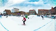 ÖSTERSUND 20200221<br /> Stortorget under  fredagens citysprint i Nordiska Ungdomsspelen 2020. <br /> <br /> Foto: Per Danielsson/Projekt.P