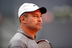 May 7, 2019 - Madrid, MADRID, SPAIN - Daniel Dobre (ROU), coach of Simona Halep, during the Mutua Madrid Open 2019 (ATP Masters 1000 and WTA Premier) tenis tournament at Caja Magica in Madrid, Spain, on May 07, 2019. (Credit Image: © AFP7 via ZUMA Wire)