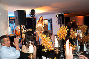 ELIZA DOOLITTLE; on stage, The Tomodachi ( Friends) Charity Dinner hosted by Chef Nobu Matsuhisa in aid of the Japanese Tsunami Appeal. Nobu Park Lane. London. 4 May 2011. <br /> <br />  , -DO NOT ARCHIVE-© Copyright Photograph by Dafydd Jones. 248 Clapham Rd. London SW9 0PZ. Tel 0207 820 0771. www.dafjones.com.