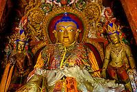 Inside the Kumbum Stupa (the largest stupa in Tibet), Palcho Monastery, Gyangze, Tibet (Xizang), China.