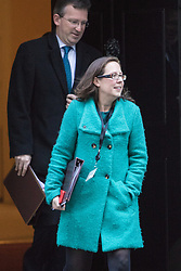 Downing Street, London, November 29th 2016. Lord Privy Seal and Leader of the House of Lords Baroness Natalie Evans  and Attorney General Jeremy Wright leave 10 Downing Street following the weekly cabinet meeting.
