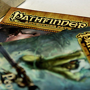 Pathfinders books, a Dungeons and Dragons spin-off are pictured at Cape Fear Games in Wilmington, N.C. (Jason A. Frizzelle)