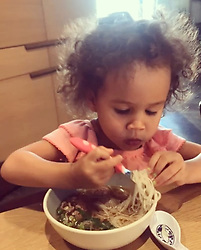 """Chrissy Teigen releases a photo on Instagram with the following caption: """"first thai boat noodles! so proud"""". Photo Credit: Instagram *** No USA Distribution *** For Editorial Use Only *** Not to be Published in Books or Photo Books ***  Please note: Fees charged by the agency are for the agency's services only, and do not, nor are they intended to, convey to the user any ownership of Copyright or License in the material. The agency does not claim any ownership including but not limited to Copyright or License in the attached material. By publishing this material you expressly agree to indemnify and to hold the agency and its directors, shareholders and employees harmless from any loss, claims, damages, demands, expenses (including legal fees), or any causes of action or allegation against the agency arising out of or connected in any way with publication of the material."""