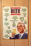 Old metal poster 'How to Order Beer around the world' different languages