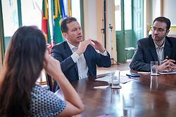 Prefeito de Porto Alegre Nelson Marchezan Junior durante reunião com entidades do comércio. FOTO: Jefferson Bernardes