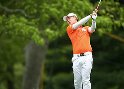 May 19, 2019 - Farmingdale, NY, U.S. - FARMINGDALE, NY - MAY 19: Jazz Janewattananond of Thailand takes a tee shot during the Final Round of the 2019 PGA Championship, on the Black Course, Bethpage State Park, in Farmingdale, NY. (Photo by Joshua Sarner/Icon Sportswire) (Credit Image: © Joshua Sarner/Icon SMI via ZUMA Press)